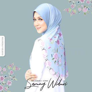 HAWWA PREMIUM TUDUNG LABUH/ HIJAB WIDURI IN BLUE SURIA [SIZE XL] for Eid/ Hari Raya