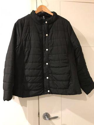 Black Quilted Jacket ( Size 20 )