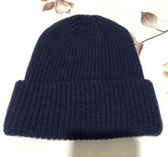Brand New Winter Time Thick Woolen Beanie in Dark Navy