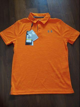Authentic BN Under Armour Polo Shirt Orange
