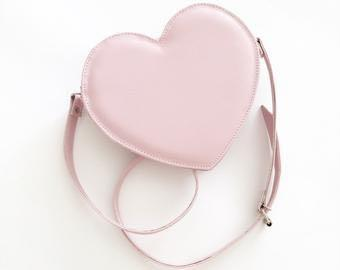 PINK HEART SHAPE SLING BAG