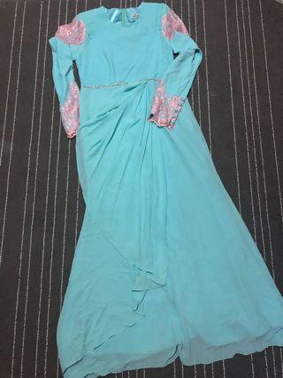 Minaz Ayra Lacey Blue Pink