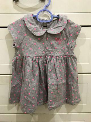 Hush Puppies grey pink polkadot dress
