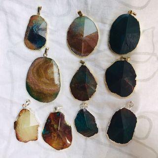 BN Blue x Amber Quartz (4 gold / 4 silver rims)