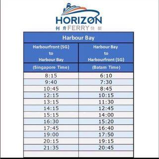 Batam Harbourbay horizon fast ferry ticket 2 way all in