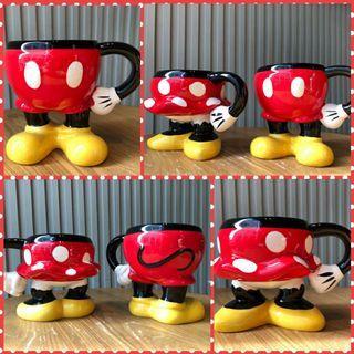 Disney mickey and minnie mouse ceremic cup 迪士尼米奇老鼠米妮老鼠陶瓷杯