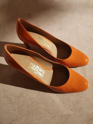 Ferragamo heels — size 37