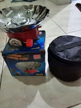 Windproof camping stove free tabung gas kecil
