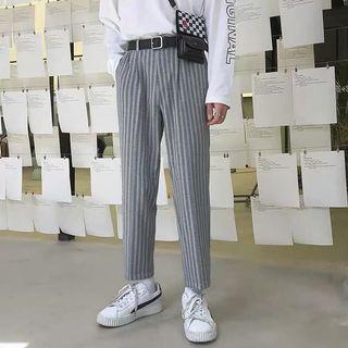 Ulzzang indie 3/4 stripes slim fit pants