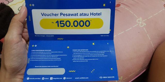 Voucher tiket.com untuk tiket pesawat citilink dan hotel