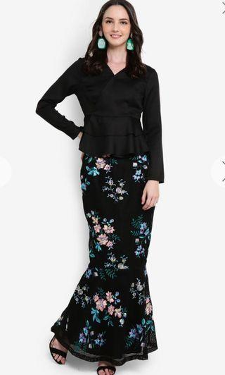 New Lubna kurung in black size L