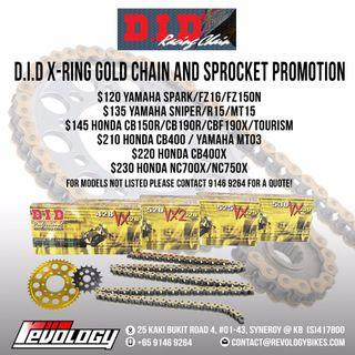 CHAIN AND SPROCKET PACKAGES @ REVOLOGY