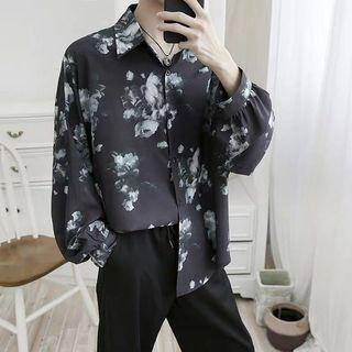 B.barrette INS washed cloudy oversize shirt