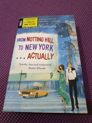 From Nottinghill to New York... Actually by Ali McNamara