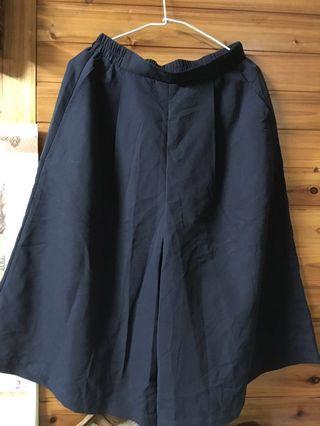 🚚 Giordano寬褲裙(深藍色)