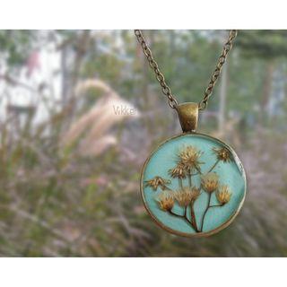 Handmade summer's breeze resin necklace