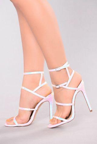 Size 8 brand new chrome heels