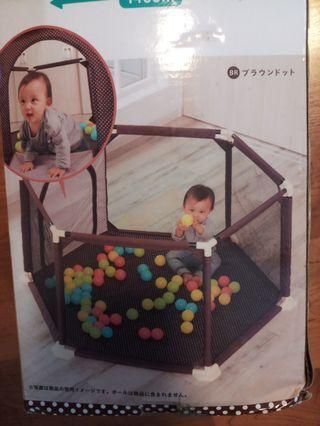 日本正版圍欄波波池網床
