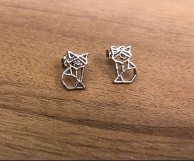 Instock! Origami Fox Stud Earrings