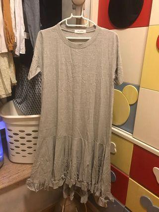 [韓國] 淺灰色夏天短袖長裙 Light grey Summer dress #MTRmk #MTRcwb