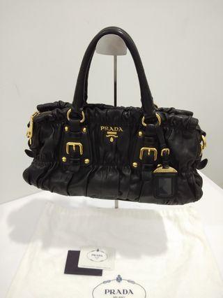 Prada Nappa Gaufre Nero leather bag