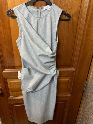 Love Bonito Grey Midi Dress