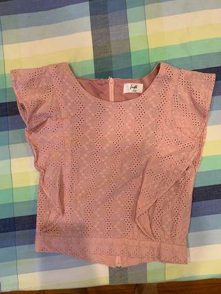 Fayth Pink Crop Top