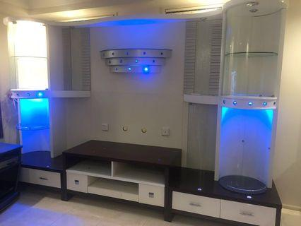 Free!!!!! Big Tv/Wall Unit with lights working.