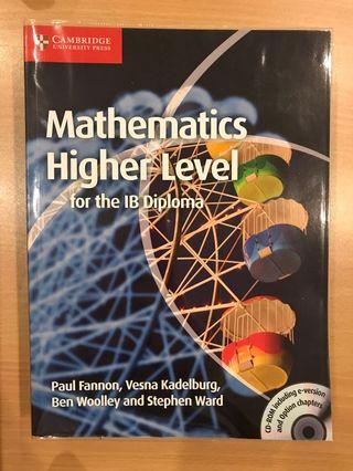 IB diploma IBDP mathematics for higher level textbook math HL