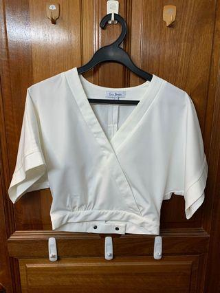 Love Bonito White Crop top