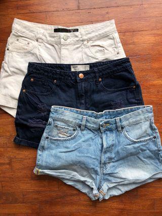 Denim Shorts (FACTORIE, HM, COTTON ON)