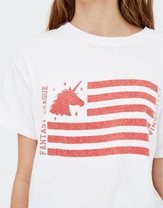 Reclaim Vintage unicorn flag tee