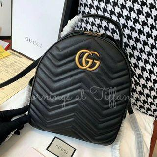 Gucci Marmont Quilted Leather GG Backpack