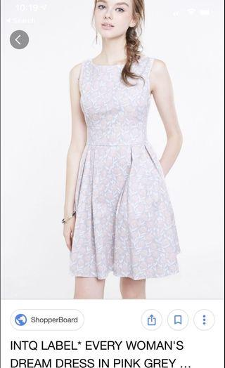 INTOXIQUETTE Every Woman's Dream Dress in Pink Grey Floral
