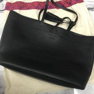 Tory Burch McGraw Tote Bag Black - Reprice!