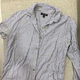 topshop striped button down top