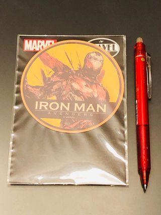 日本Marvel展限定Average Ironman貼紙(不設面交)