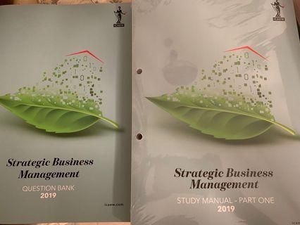 🚚 2019 ICAEW Brand New Strategic Business Management Textbook & Question bank