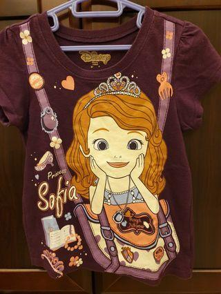 🚚 Disney~蘇菲亞公主紫色棉T