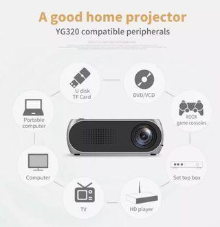 Xcellent全球YG320便攜式迷你家用LED投影儀支持全高清1080P文件