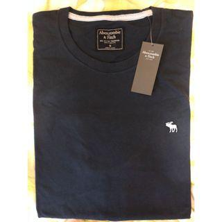 NEW深藍A&F短袖T恤 Abercrombie & Fitch Navy Short Sleeves T Shirt