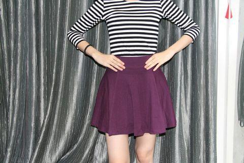 Maroon Skirt flare skirt hnm skirt
