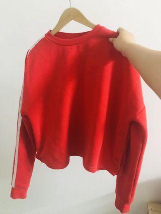 Red Sweatshirt and Sweatpants