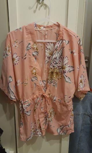 Kimono outer flower cantik