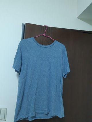 🚚 H&m藍灰色短t