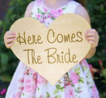🚚 Here comes the bride Wedding signage