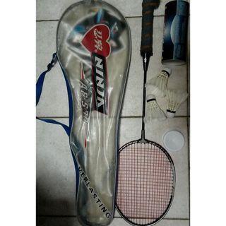 Badminton ,racket ,bag