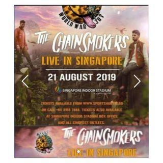 The Chainsmokers Live in Singapore CAT 1