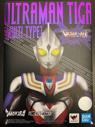 (95% New 內吸索未開)Ultra-Act Ultraman Tiga  (Multi Type) 超人迪加