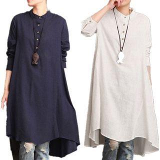 ZANZEA Women's Buttons Long Sleeve Plus Size
